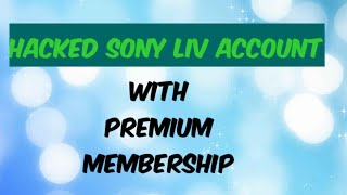 How to get free premium account of sony liv videos / InfiniTube