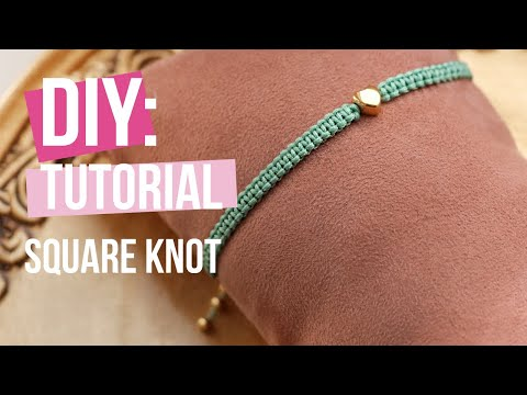 Jewellery making: Basic technique macramé square knot