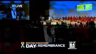 "Boston Marathon Tribute: Survivor Patrick Downes Says ""Thank You"""