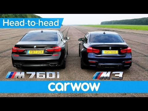 BMW M760Li vs M3 Competition – DRAG RACE & ROLLING RACE | Head to Head