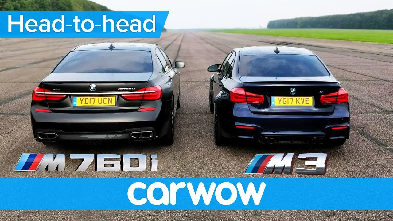 Bmw M760li Vs M3 Competition Drag Race Rolling Race Head To