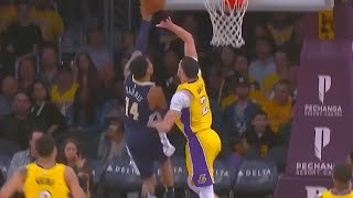 Lonzo Ball Impersonates LeBron James With Amazing Chase Down Block