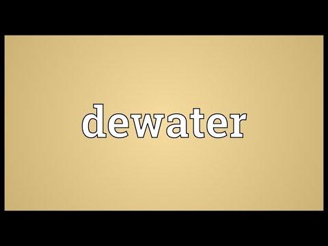 Header of dewater