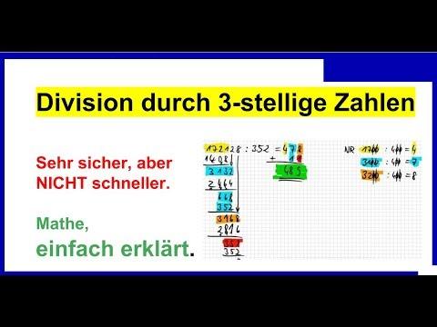 Division durch 3stellige Zahlen, schriftlich, viel besser weil einfach, Erklärung