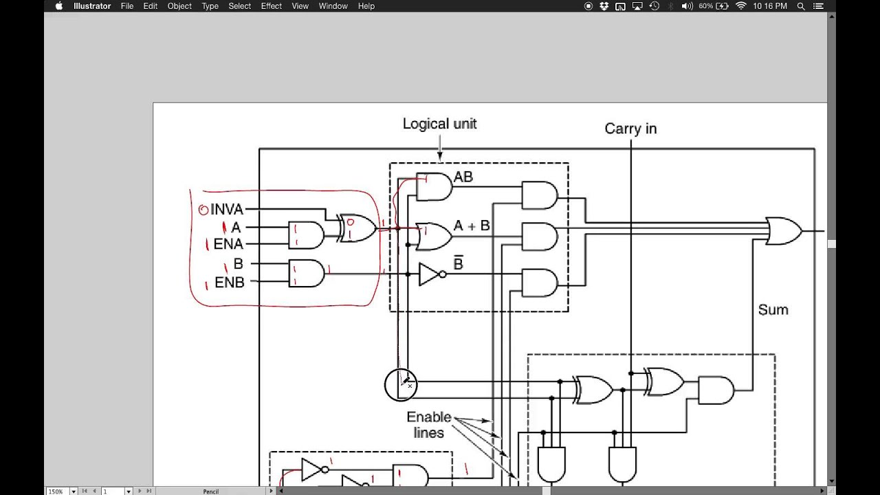 1 Bit Alu Logic Diagram Reinvent Your Wiring 2x15 A Explained Youtube Rh Com Full Adder Control