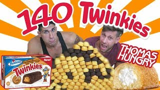 140 TWINKIES CHALLENGE - FOIS VS FOOD /w Thomas Hungry thumbnail