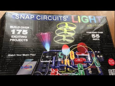 how to use snap circuits light scl 175 by elenco review tutorialhow to use snap circuits light scl 175 by elenco review tutorial science technology for kids