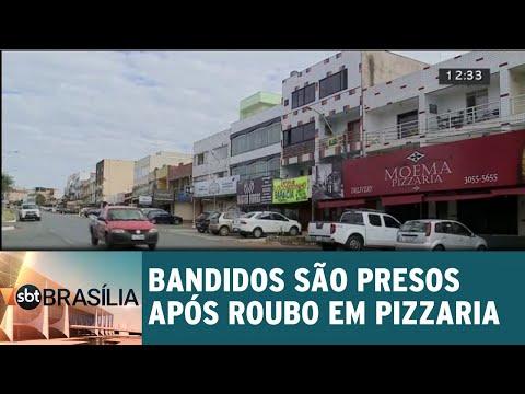 Bandidos são presos após roubo em pizzaria | SBT Brasília 23/05/2018