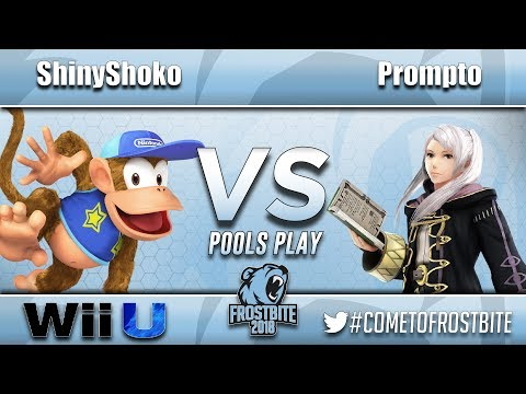 ICE | ShinyShoko (Diddy Kong) vs. yung | Prompto (Robin) - Wii U Pools Play - FrostBite 2018