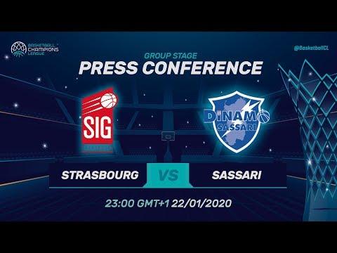 SIG Strasbourg v Dinamo Sassari - Press Conference - Basketball Champions League 2019-20