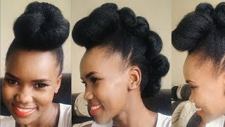 How To Get a Stylish Mohawk in Minutes! | Natural Hair