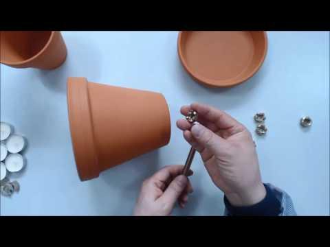 초 간단 양초난로 만들기