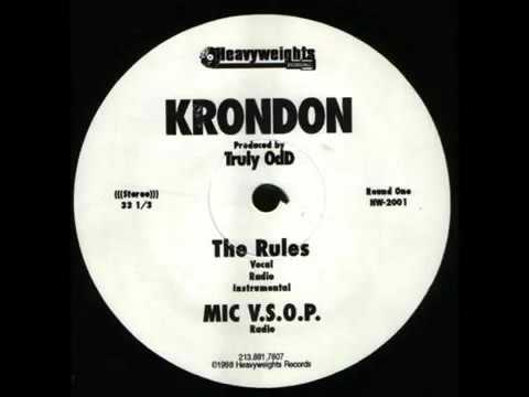 Krondon - The Rules Thin Minutes