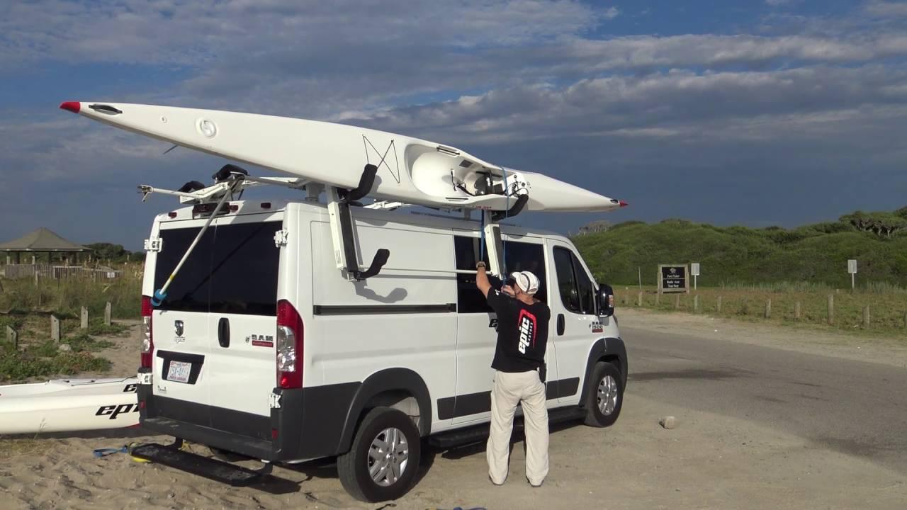 Kayak Roof Carrier >> Epic Kayaks Transportation System - YouTube