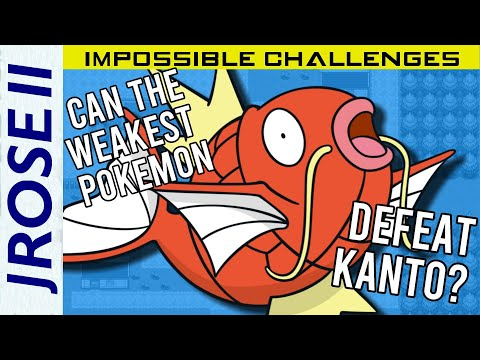 Is It Possible To Beat Pokemon FireRed/LeafGreen With Only Magikarp? - Pokemon Challenge