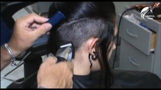 Beautiful model shaving head undercut - Haircut - (Full Version)