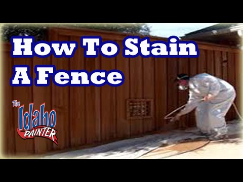 How To Stain A Fence Spraying A Fence With An Airless
