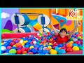Giant Ball Pit On Ryan's Mystery Playdate with fun challenges!!!