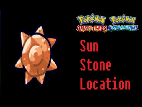Where To Find A Sun Stone Pokemon Omega Ruby Alpha Sapphire Location