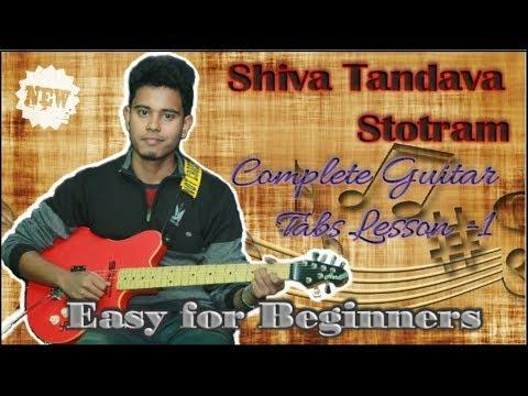 Shiva Tandava Stotram Guitar Tabs Lesson easy for beginners