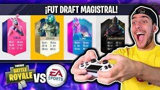 FORTNITE VS FIFA 18 FUT DRAFT BATTLE ROYALE !!!