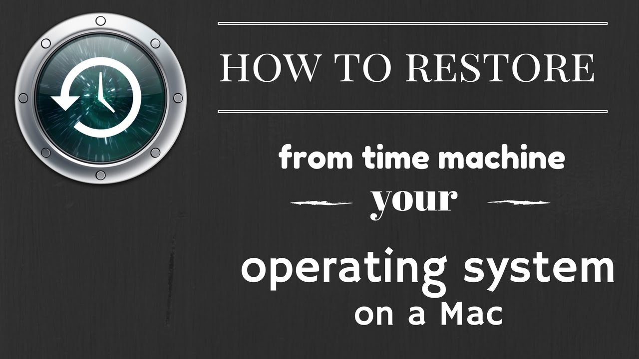 how to restore from time machine