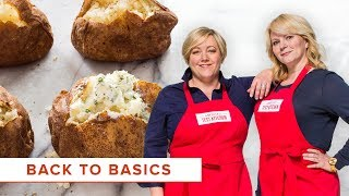 How to Cook Bone-in Chicken Breasts and the Best Baked Potato