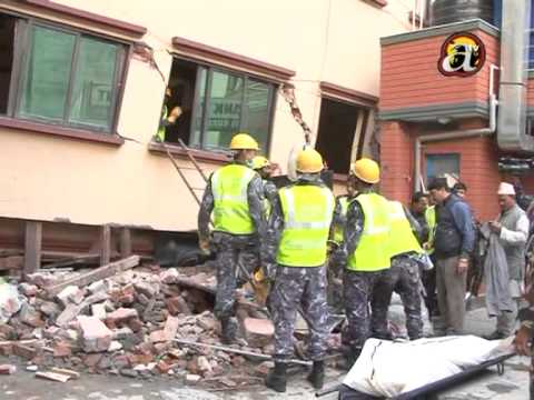 Armed force rescue operations of earthquake victims