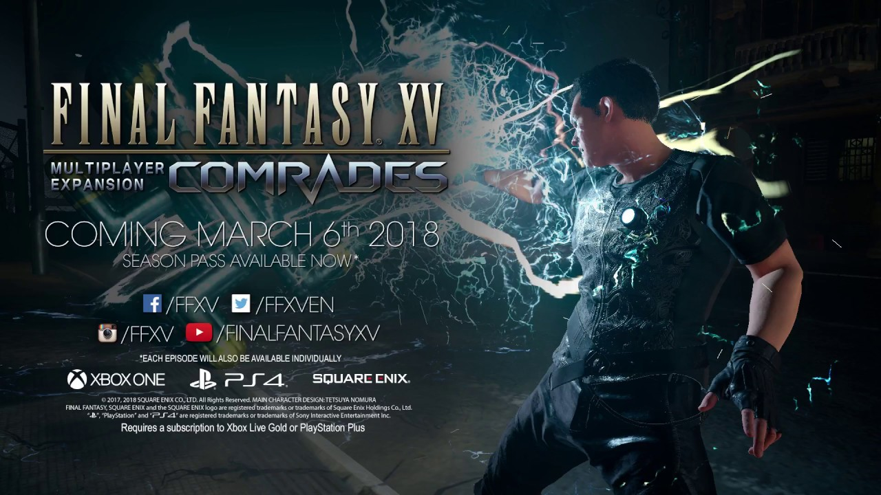 Final Fantasy XV's March Comrades Update Adds New Characters