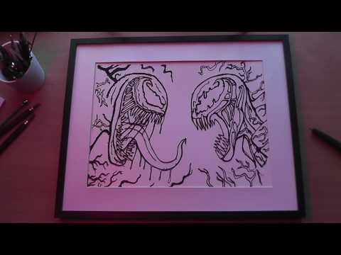 3d-pen-|-venom-vs-carnage-wall-art-|-timelapse
