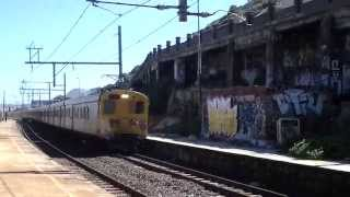 Metrorail Commuter Train passing through the abandoned Clovelly Station - 5 Apr 2014