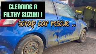 Cleaning the dirtiest car ever! Suzuki swift deep clean disaster detail