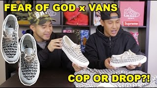 FEAR OF GOD VANS! ARE THESE WORTH THE HYPE?