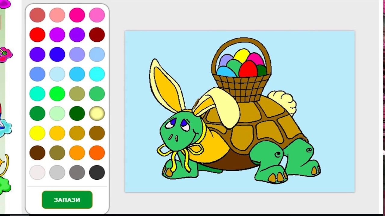 online games for coloring coloring an easter turtle youtube