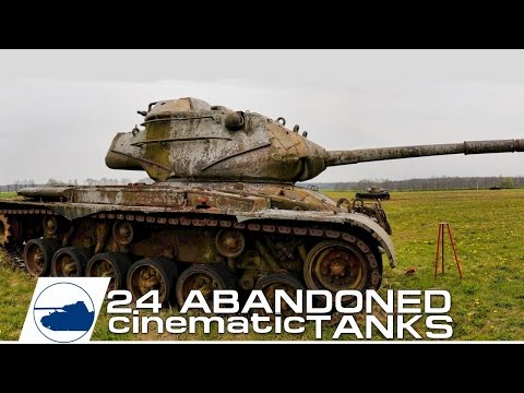 Found 24 Abandoned Tanks - Cinematic video.