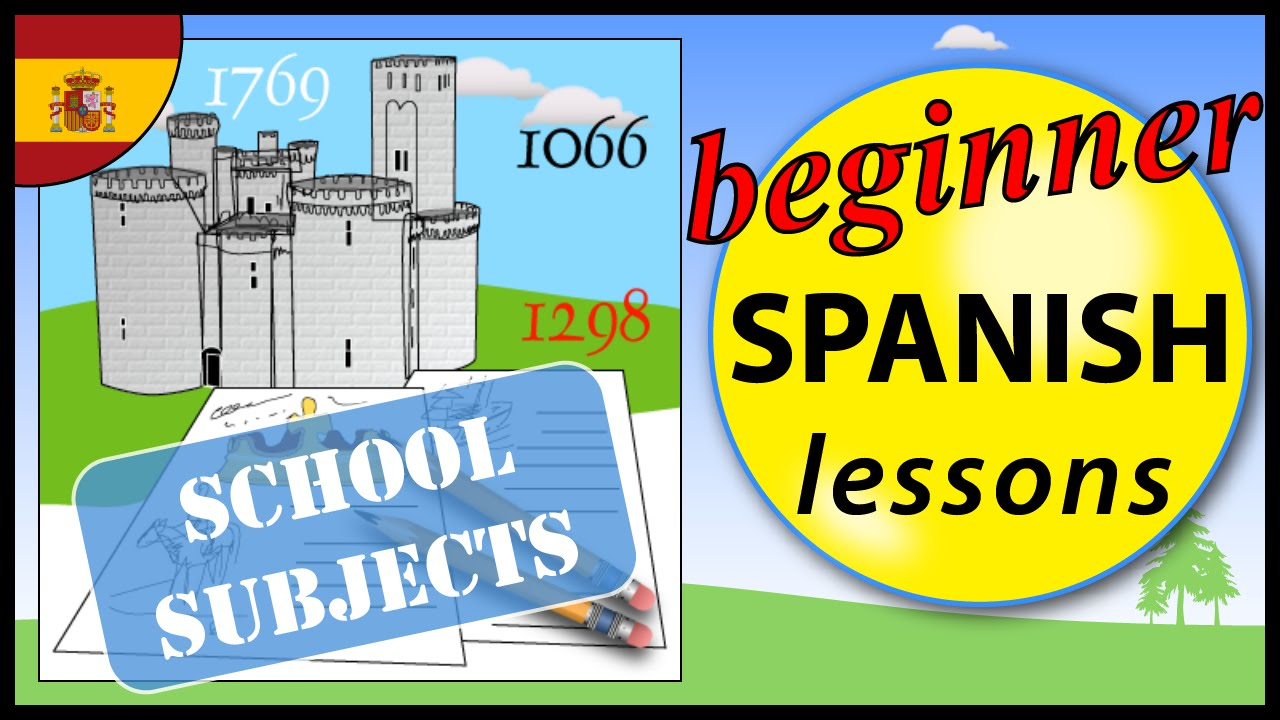 school subjects in spanish beginner spanish lessons for children youtube. Black Bedroom Furniture Sets. Home Design Ideas