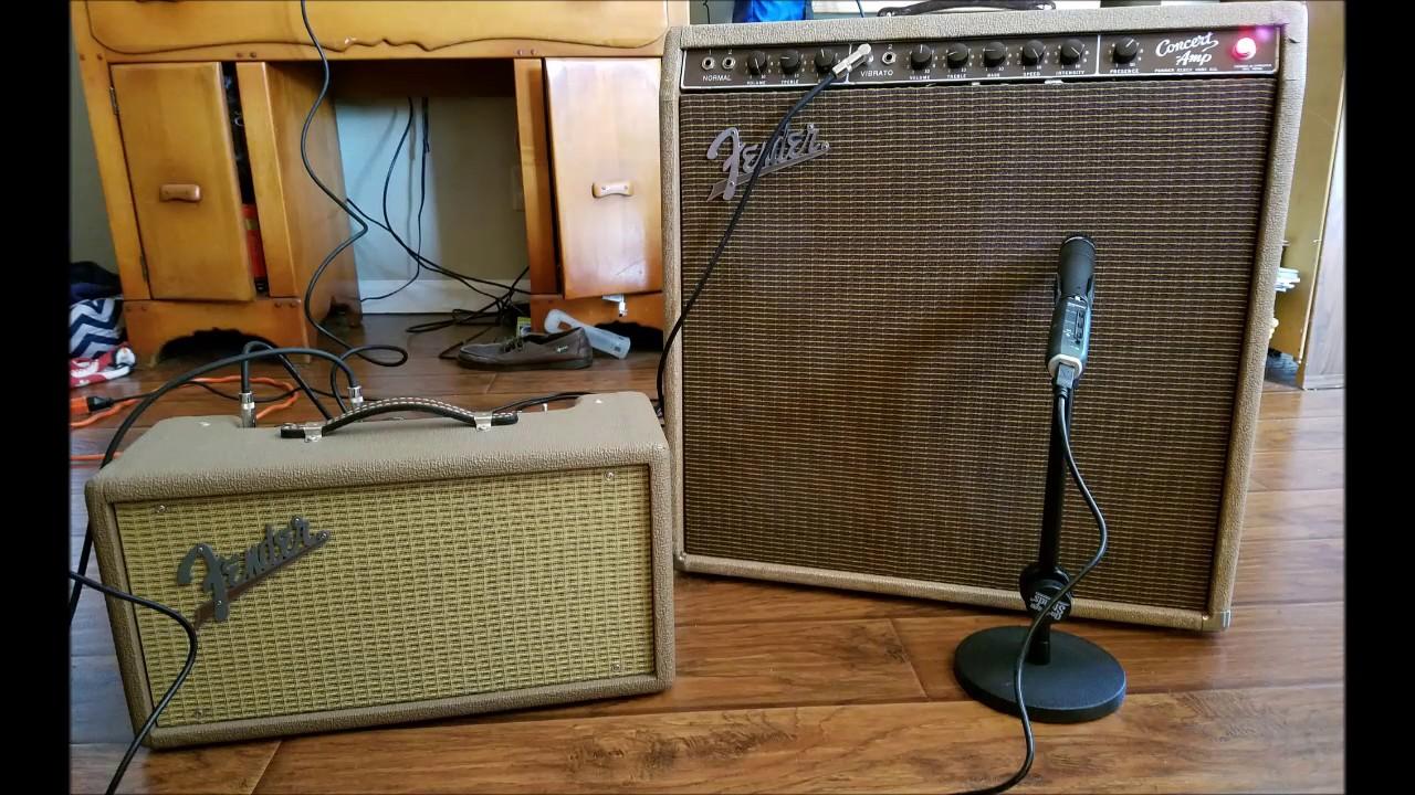1960 Fender Concert Amp 57 Strat Reissue And Reverb Tank