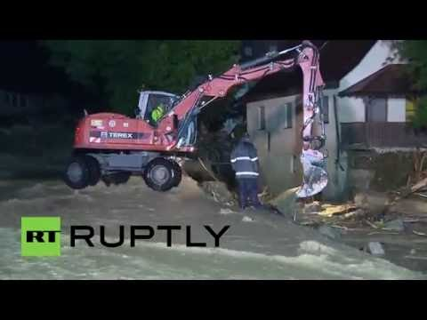 Germany: Clean up continues after floods leave 3 dead in Baden-Wurttemberg