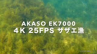 AKASO EK7000 4K 25FPS サザエ漁