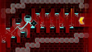 Geometry Dash - Neon Cube VS If Bloodbath Was Lv 1 (Harder) (By Pwner135)