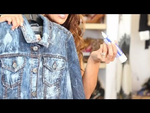How to Make a Jean Jacket Look Worn : Trendy Fashion Tips - YouTube