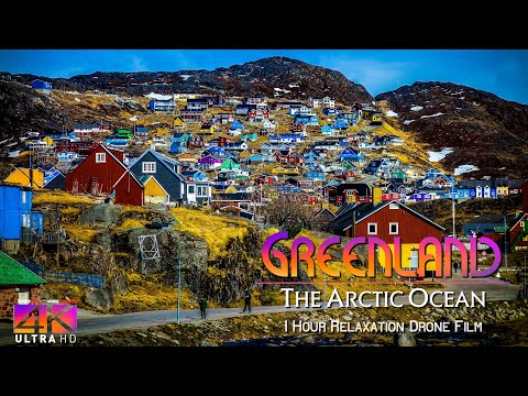 【4K】1 HOUR DRONE FILM: «Greenland - The Ice Planet» Ultra HD