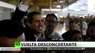 Guaidó regresa a Venezuela tras violar la prohibición de viajar