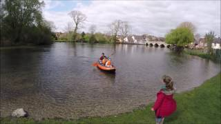 kayaking adventure finley emilia freya check out the tibord itiwit 3 for the first time