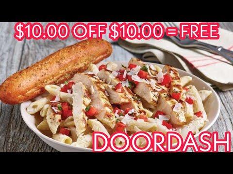 $10 OFF $10 FREE FOOD DOOR DASH