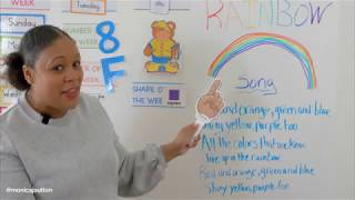 Preschool Rainbow Lesson 2 - Learn at Home