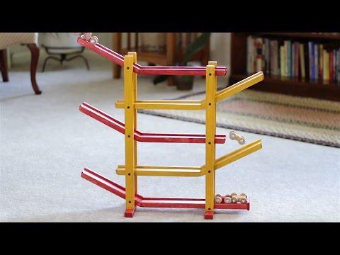 Amish Made Wooden Car Roller (Circus Splash)