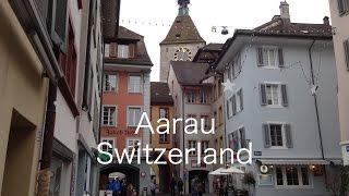 スイス・アールガウ州の州都アーラウ Aarau in Switzerland / Sony QX10