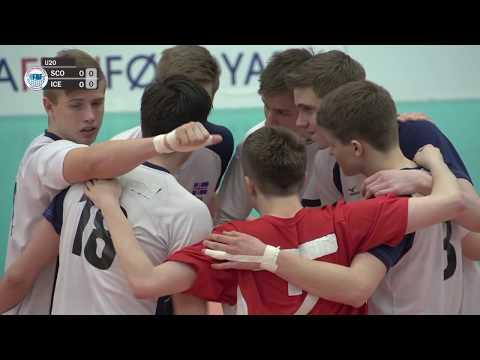 U20 EM flogbóltur menn: Skotland - Ísland