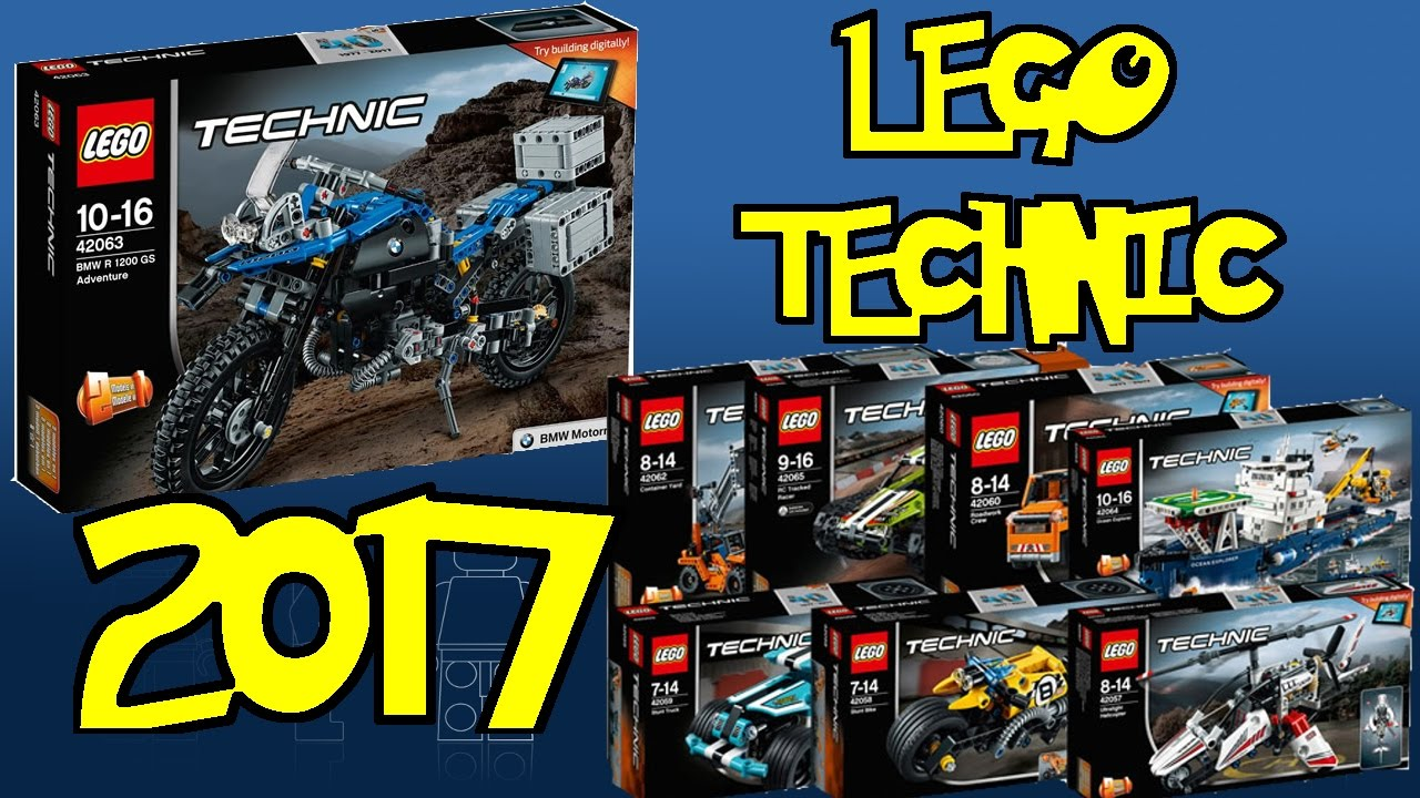 nuovi sets lego technic 2017 youtube. Black Bedroom Furniture Sets. Home Design Ideas